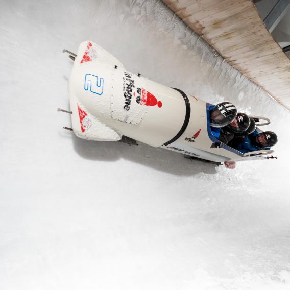 Bob Racing sur la piste olympique de La Plagne