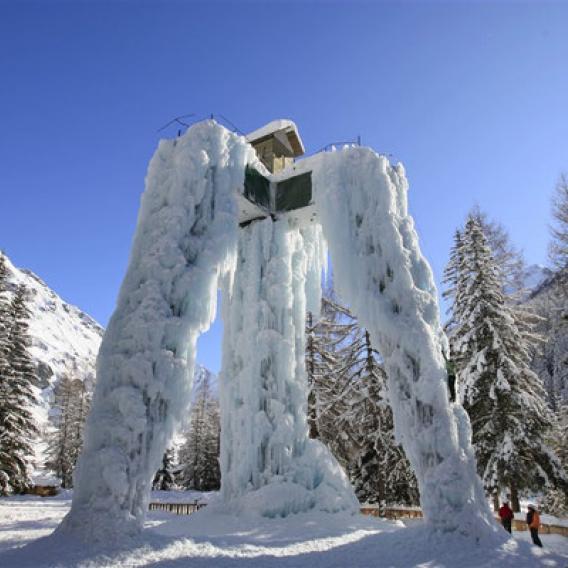 Cascade de glace La Plagne Champagny en Vanoise